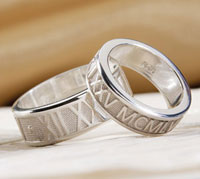 custom wedding rings jewelry personalized roman numeral bands - Personalized Wedding Rings