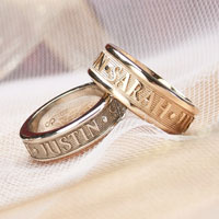 Couples Name Rings