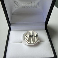 Men's Monogram Ring